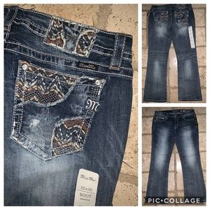 Nwt Miss Me Jeans Signature Boot Cut Pants Sz 33